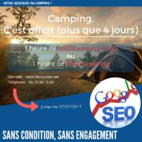 SEO et webmastering pour les camping